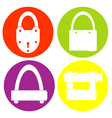 monochrome icon set with lock vector image vector image