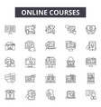 online courses line icons signs set vector image vector image