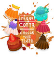panna cotta set desserts collection colorful icon vector image vector image