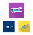 plane and transport logo vector image vector image
