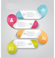 progress banners with colorful tags vector image