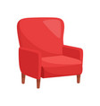 red armchair on white background vector image vector image