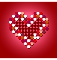 Red Halftone Heart vector image