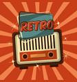 retro vintage radio vector image