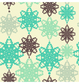 seamless pattern with decorative snowflakes vector image vector image