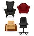 set armchair vector image vector image