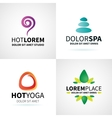 Set of natural spa yoga wellness meditation vector image vector image