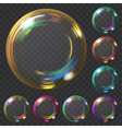 Set of soap bubbles vector image vector image