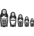 Several Russian Nested Dolls vector image vector image