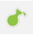 simple green icon - flask with a drop vector image vector image