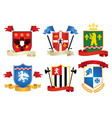 simple style heraldic set vector image vector image