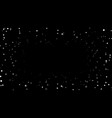 stars on black night background vector image vector image