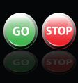 stop and go button vector image