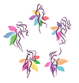 stylized womans vector image