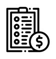 tablet financial list and coin dollar icon vector image