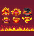 tasty hot barbecue grill party set icons vector image