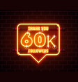 thank you followers peoples 60k online social vector image
