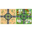 top view transport road vector image