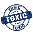 toxic blue grunge round vintage rubber stamp vector image vector image