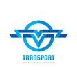 transport - logo concept vector image