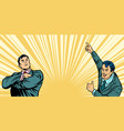 two businessmen background vector image