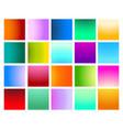 vivid gradient set vector image vector image