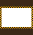 warning sign yellow and black stripes frame vector image