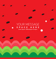 watermelon background striped green and red summer vector image vector image