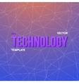 Wireframe Technology Background Chemistry vector image vector image