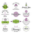 health and beauty care spa badge vector image