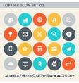 Office 3 icon set Multicolored square flat vector image