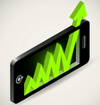 Arrow graph up Chart showing success Business grow vector image