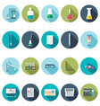 Chemical icons Flat design vector image