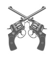 Crossed Guns Isolated Design Elements vector image