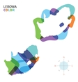 Abstract color map of Lebowa vector image vector image