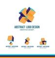 Abstract cube logo icon design vector image vector image