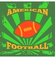 American football rugby poster vector image