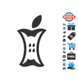 apple stump icon with free bonus vector image vector image