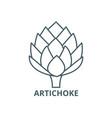 artichoke line icon artichoke outline vector image vector image