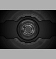 black concept technology background with gear vector image