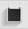 blank retro vintage photo frame set hanging on a vector image vector image