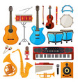 bongo drums guitar and other musical instruments vector image vector image