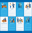 boss and work in business company posters set vector image vector image