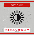 brightness icon vector image vector image