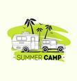 car towing caravan trailer or travel camper vector image vector image
