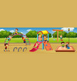 children playing at playground vector image