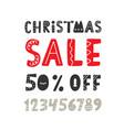 christmas sale banner scandinavian style vector image