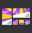 colorful bright abstract retro poster template for vector image