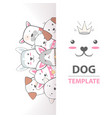 crazy beautiful dog template vector image vector image