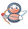 cupid blush on a cartoon makeup bag vector image